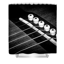 Shower Curtain featuring the photograph Strings Series 18 by David Morefield