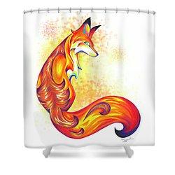 Stylized Fox I Shower Curtain