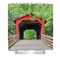Sugar Creek Covered Bridge Shower Curtain