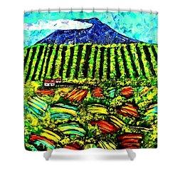Sumatra Coffee Plantation Shower Curtain