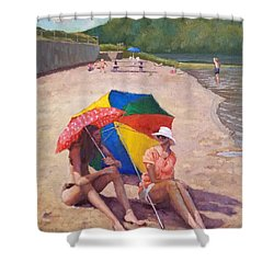 Summer At Jersey Valley Shower Curtain