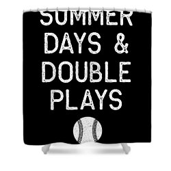 Summer Days And Double Plays Light Baseball Softball Shower Curtain