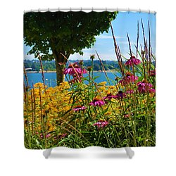 Summer Flowers Vancouver 1 Shower Curtain
