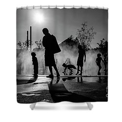Summer In Paris Shower Curtain