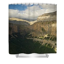 Shower Curtain featuring the photograph Summer Magic In The Ordesa Valley by Stephen Taylor