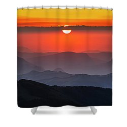 Sun Eye Shower Curtain