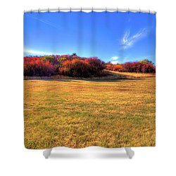 Shower Curtain featuring the photograph Sun On Magpie Forest by David Patterson