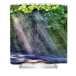 Shower Curtain featuring the photograph Sun Streaks by Debbie Stahre