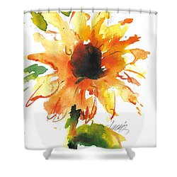 Sunflower Too - A Study Shower Curtain