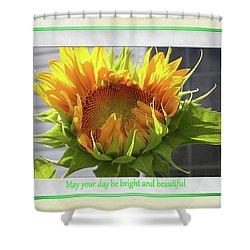 Sunflower Birthday Shower Curtain