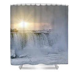 Sunrise In Niagara Falls Shower Curtain