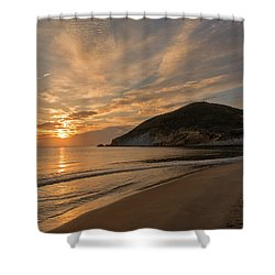 Sunrise On The Beach Of The Genoveses Of Cabo De Gata Shower Curtain