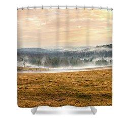 Sunrise On The Farm Shower Curtain