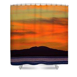 Sunrise Over Santa Monica Bay Shower Curtain