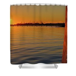 Sunset And Old Watermill Shower Curtain