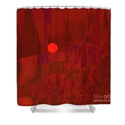 Sunset As Siler Metaphorm Shower Curtain