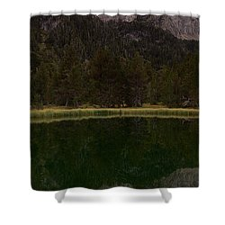 Shower Curtain featuring the photograph Sunset At Ibonet De Batisielles by Stephen Taylor