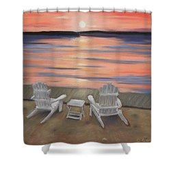 Sunset At Mairs Shower Curtain