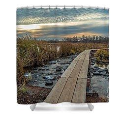 Sunset At Purgatory Creek Shower Curtain