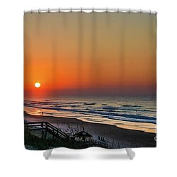 Sunset At Surf City Nc Shower Curtain