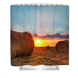Sunset Bales Shower Curtain