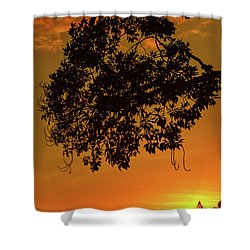 Sunset By The Pier Shower Curtain