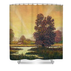 Sunset Color Shower Curtain