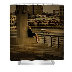 Sunset Enjoyment Shower Curtain