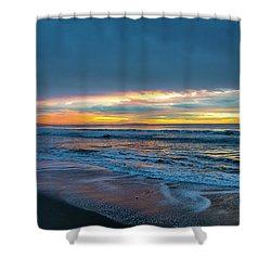 Sunset Fire Over Catalina Island 2 Shower Curtain