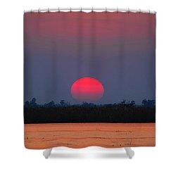 Sunset In Botswana Shower Curtain