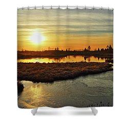 Sunset In Pitt Meadows Shower Curtain