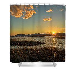 Sunset In The Natural Park Of Prat De Cabanes Shower Curtain