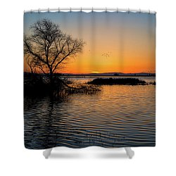 Sunset In The Refuge Shower Curtain