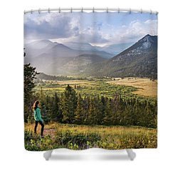Sunset In The Rockies Shower Curtain