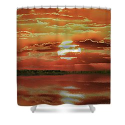Shower Curtain featuring the photograph Sunset Lake by Bill Swartwout Fine Art Photography