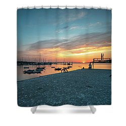 Shower Curtain featuring the photograph Sunset Looker by Bruno Rosa