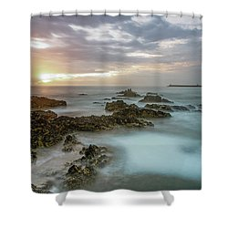 Shower Curtain featuring the photograph Sunset Matosinhos by Bruno Rosa