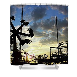 Sunset On Coney Island Shower Curtain