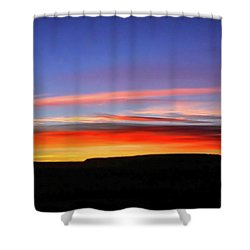 Sunset Over Navajo Lands Shower Curtain