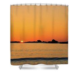 Sunset Over Sunset Bay, Oregon 4 Shower Curtain