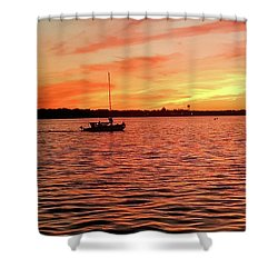 Sunset Sail Shower Curtain