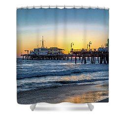Sunset Under The Pier Shower Curtain
