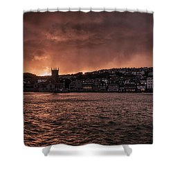 Sunset Harbour Shower Curtain