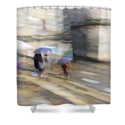 Shower Curtain featuring the photograph Sunshower On The Stairs by Alex Lapidus