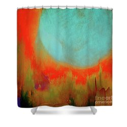 Super Blue Moon Shower Curtain