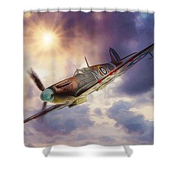 Supermarine Spitfire Shower Curtain