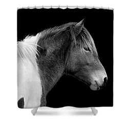 Susi Sole Portrait In Black And White Shower Curtain