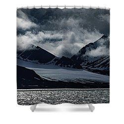 Svalbard Mountains Shower Curtain