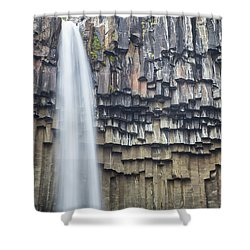 Shower Curtain featuring the photograph Svartifoss Portrait Iceland by Nathan Bush