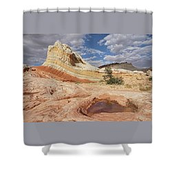 Sweeping Structures In Sandstone Shower Curtain